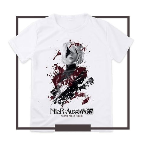 Japanese manga Nier Automata T-Shirts anime shirt of YoRHa 2B and YoRHa, 3D Printing Shirt Handmade Cosplay goods clothing store 1