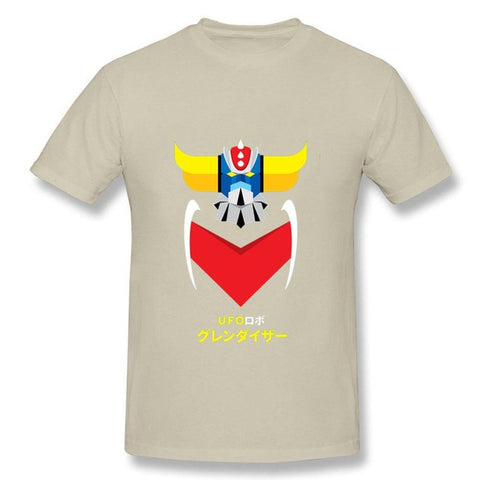 Japanese style Cool Anime UFO Robot Grendizer T Shirts men Homme Summer O-Neck T-shirts Cartoon Fitness Man Tee Shirt camisetas  1