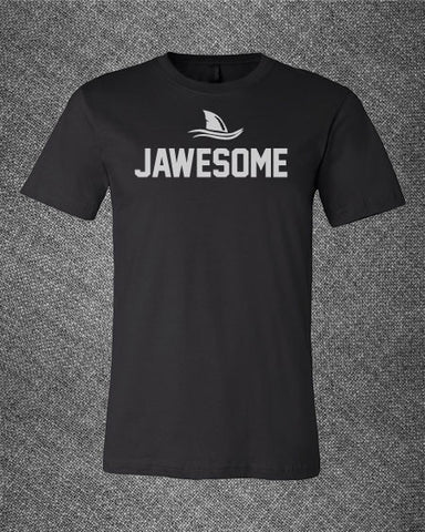 Trendy Pop Culture Shark Week Jaws Jawesome attack teeth Tee T-Shirt Ladies Youth Adult Black - Animetee - 2
