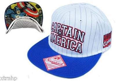 9147a070e4a90 Marvel Comics Captain America Snapback Hat Licensed white blue The Ave –  2018 AT 142 30 (Animetee.com Friends)
