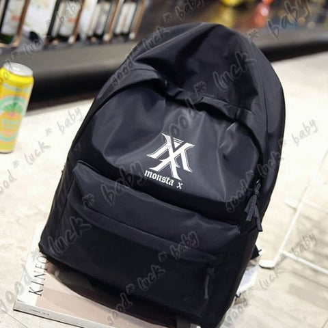 KPOP MONSTA X Backpack Shoulder Bookbag Student Back to School Unisex Travel Shopping Bag Newtall BagBag Store 1