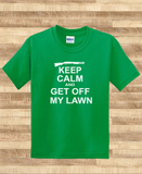 Trendy Pop Culture Keep calm and get off my lawn redneck hick trailor trash Tee T-Shirt Ladies Youth Adult Unisex - Animetee - 1