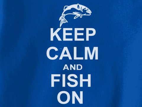 Trendy Pop Culture Keep Calm and Fish on Fishing Camping Hunting  shirt tshirt Unisex Toddler Ladies All Sizes - Animetee - 2