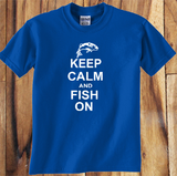 Trendy Pop Culture Keep Calm and Fish on Fishing Camping Hunting  shirt tshirt Unisex Toddler Ladies All Sizes - Animetee - 1