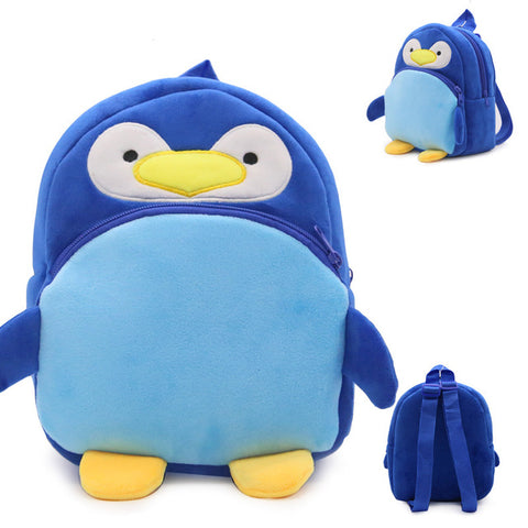 Kids Backpack 2018 News 1 to 3 years old 3D Cute penguin Animals Plush Backpack Students School Bag For Girls Boys Rucksack EP Zamora Bag Store 1