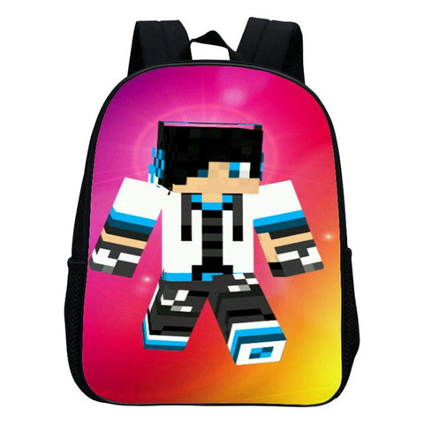 1d174704686c ... Kindergarten Children School Bag Minecraft Cartoon Backpack Printing School  Bags For Boys Girls Small Backpacks Mochila ...