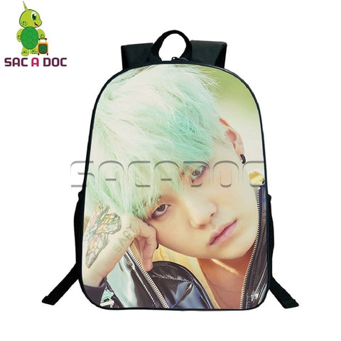 Korean Kpop Style BTS Bangtan Boys Backpack for Teenagers Hip Hop Boys Girls School Bag SUGA V JIMIN Bookbags BTS Daily Backpack Shop3126025 Store 1
