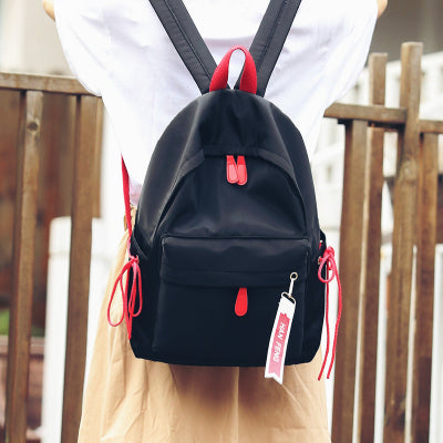 Korean ulzzang Canvas Bag Japanese Harajuku Chic Girl Student Backpack Fresh Patchwork School Backpack for Teenage Girls Mona Bags Store 1