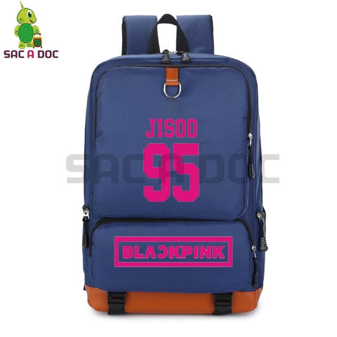 Kpop Blackpink Girl Group Backpack High School Students Book Bag Lisa Rose Printed Canvas Travel Bag Large Capacity Schoolbags Shop3126025 Store 1