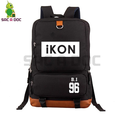 Kpop IKON BOBBY Backpack High School Students Backpack Large Capacity School Bags Women Men Fashion Canvas Laptop Backpack Shop3126025 Store 1