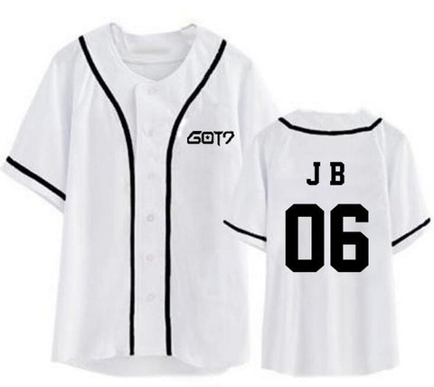 Kpop got7 member name printing short sleeve baseball t-shirt fashion summer style men women i got7 t shirt top tees Mr Right's Collection 1