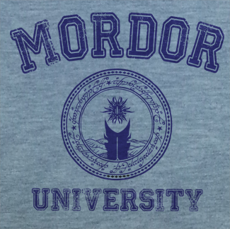 Gray Print Trendy Pop Culture Lord of Rings Mordor College University Style tee t-shirt tshirt Toddler Youth Adult Unisex Ladies Female Gray - Animetee - 2