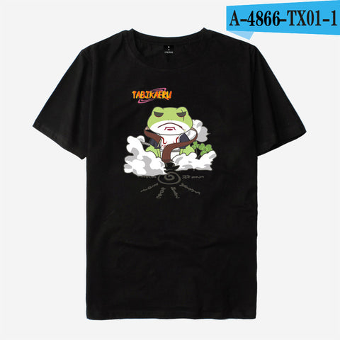 LUCKYFRIDAYF NARUTO Frog Anime Short Sleeve T shirt Men/Women Funny Tshirts Cotton Men Summer Short T-shirt Men Cool Top Tees Ali Morty Store 1