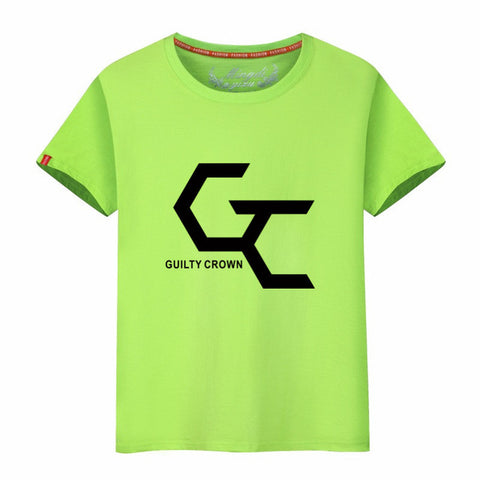 LYTLM Guilty Crown T Shirt Japan Anime Shirt Cute GC Short Sleeve T-shirt Men O-neck Comic Hip Hop Men Clothes 2018 Summer 6XL CIP Branded Store 1