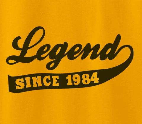 Trendy Pop Culture Legend since 1984 25 26 27 28 29 30  years old birthday  Tee T-Shirt Ladies Youth Adult - Animetee - 2