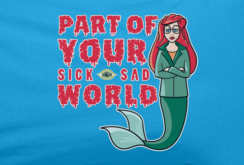 Daria MTV Sick Sad world Little Mermaid Disney parody Tee T-shirt - Animetee - 1