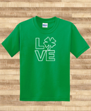 Pop Culture Trendy Irish Love kiss me i'm irish Ireland shamrock pride Tee T-Shirt Ladies Youth Adult Unisex - Animetee - 1