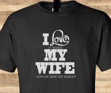 Pop Culture Trendy I love it when my wife let's me go ride the harley davidson motorcycle scooter chopper Tshirt Tee T-Shirt Ladies Youth Adult - Animetee - 1