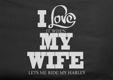 Pop Culture Trendy I love it when my wife let's me go ride the harley davidson motorcycle scooter chopper Tshirt Tee T-Shirt Ladies Youth Adult - Animetee - 2