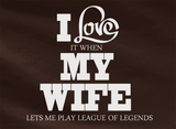 Pop Culture Trendy I love it when my wife lets me play LOL League of Legends Captain Teemo Tshirt Tee T-Shirt Ladies Youth Adult - Animetee - 2