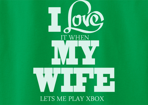 Pop Culture Trendy I love it when my wife lets me play xbox one halo 1 2 3 4 5 ps2 ps3 ps4 steam Tshirt Tee T-Shirt Ladies Youth Adult - Animetee - 2