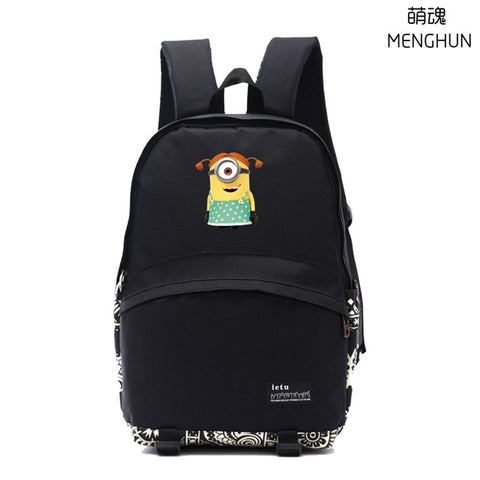 Lovely anime movie cartoon backpacks Cute Minions backpack student school bag NB178 MENGHUN Anime Store 2