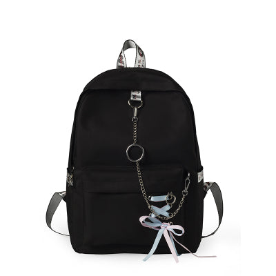 MENGXILU Japan Style Women Backpack School Bags For Teenagers Girls Chains Canvas Women Bags Mochila Sac A Dos 2018 New Fashion  1