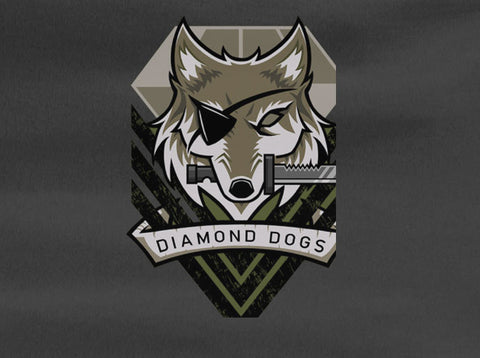 Metal Gear Solid Phantom Diamond Dogs Logo Snake Tee T-Shirt - Animetee - 1