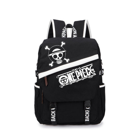MeanCat Anime Collection One Piece Backpack Luffy Tokyo Ghoul SAO Naruto Fairy Tail Black Shoulder Backpacks MeanCat Global Store 1