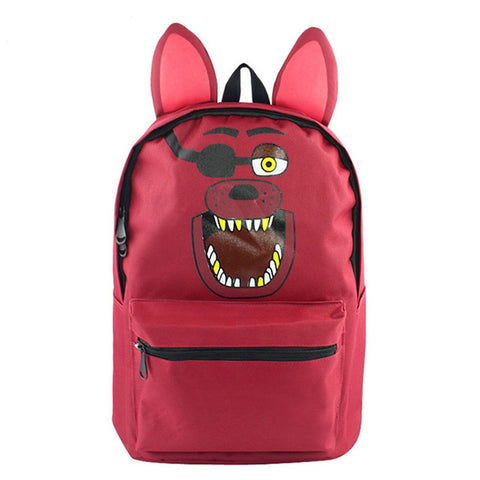 MeanCat Five Nights at Freddy's Anime Cartoon Backpack Brown Bear Purple Rabbit Red Fox Yellow Duck for School Cosplay MeanCat Global Store 1