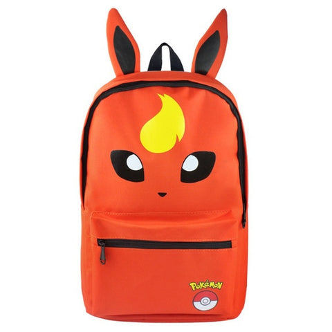 MeanCat Pokemon Figures School Backpack Japan Anime Flareon Shoulder Bags for Teenager MeanCat Global Store 1