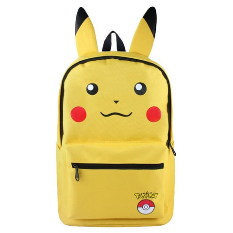 MeanCat Pokemon School Kawaii Backpack Pikachu Ibe Haunter Squirtle Charmander Bulbasaur Japan Figures Mochila Anime MeanCat Global Store 1
