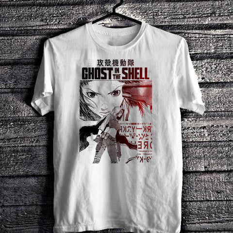 Men 2018 Brand Clothing Tees T Shirt Ghost In The Shell T-Shirt, Anime, Japanese, Akira, Japanimation White Tee Cheap T Shirts Tshirt Man Store 1