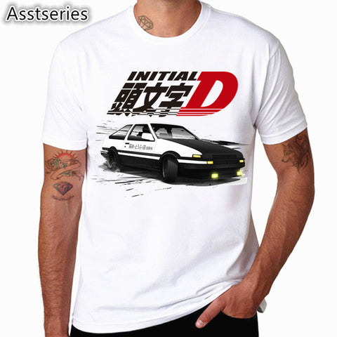 Men Print Drift Japanese Anime Fashion T Shirt Short Sleeves O Neck Summer Cool Casual AE86 Initial D Homme Tshirt Teepark Store 1