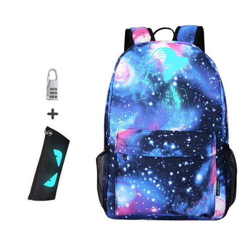 Men's Backpack Anime Starry sky Luminous Printing Teenagers Casual Mochila Men Women's Backpack Student Cartoon School Bags WUAI Store 10