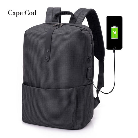 5cf4e23a8f57 Men s Laptop Backpack USB Charging Headphone Anti Theft Backpack Men Travel  Backpacks School Bag Male Business