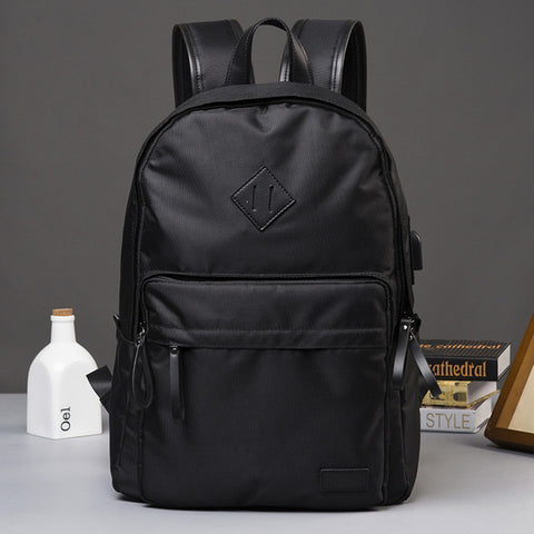 Men's canvas bag Large Capacity Schoolbag Cool Japanese Canvas Men's Backpack Promotion Solid Laptop Travel Backpack mochila Yiwu YunHeng Bag Store 1