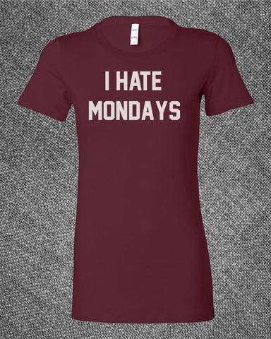 Pop Culture Trendy I Hate mondays TGIF sunday funday garfield monday Tee T-Shirt Ladies Youth Adult Unisex - Animetee - 1