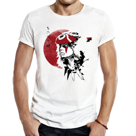 Mononoke Red Sun Princess Men Unisex Tees T Shirts classic Casual Fashion Anime princess mononoke chihiro anime forest japan Shop3621091 Store 1