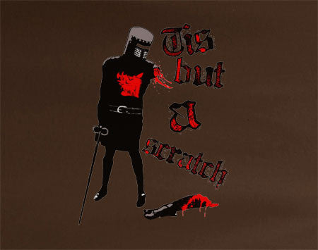 Monty Python's Tis But a Scratch Black Knight Tee T-Shirt - Animetee - 2