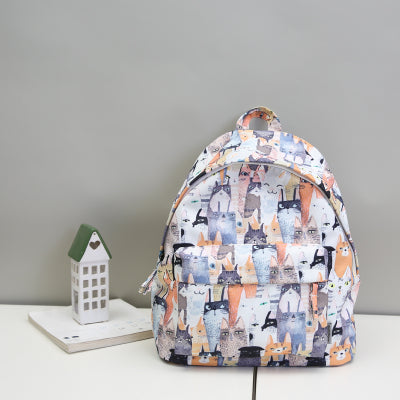 Moon Wood Fashion 3D Graffiti Backpack Waterproof College Students Backpack  Japanese Style School Bags For Teenager 95661b7ff8