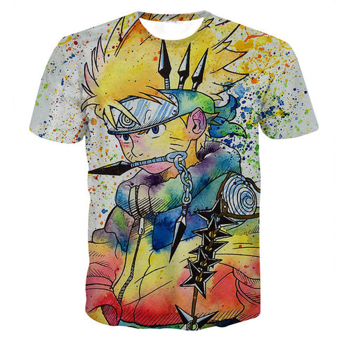 Naruto Anime T Shirt 2018 Mens Clothing Casual Cartoon Teenager Boy 3D T-shirts Brand Tops Tees Tshirt Dropship Camiseta Naruto alovetree Store 1