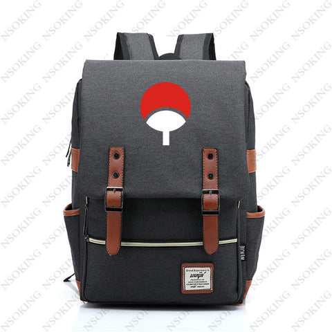 Naruto Backpack New Personalized Anime Student School Canvas Bag Fashion Men Women vintage Travel Backpacks Anime Costumes Store 1
