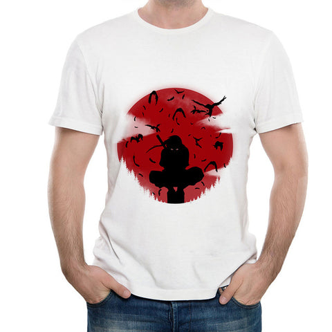 4505ad54ee Naruto Sharingan T shirt 2018 New Japanese Anime Tshirt White Color Summer  Short Sleeve Modal T