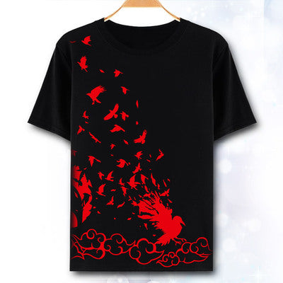 Naruto T-shirt Anime Cosplay Itachi Uchiha Sasuke t shirt costume Fashion Men Tops Tees Costumes/Accessories Store 1