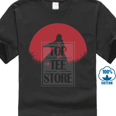 Naruto The 4Th Hokkage Anime Akatsuki Japan Orochimaru T Shirt Black Basic Tee skull city Store 1