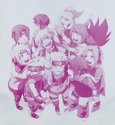 Custom Fanmade Naruto Group T-Shirt Tee Tshirt - Animetee - 1