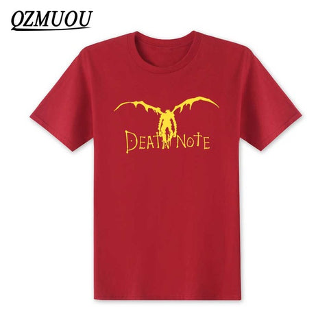 New 2018 Japan New Death Note Men T Shirts Cotton Cool Anime Cartoon Short Sleeve T-shirt Camisetas T shirt Mens Clothing XS-XXL QZ clothing store 1