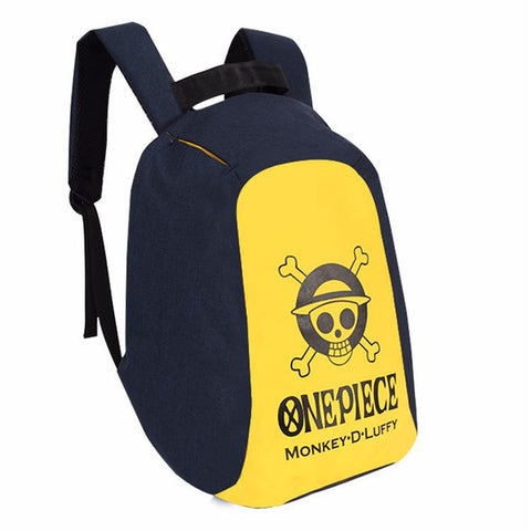 Anime Backpack School New Kawaii Cute One Piece Skull Monkey D Luffy Backpack Bag Anti Theft School Rucksack Student Book Bag Cosplay For 14 Inch