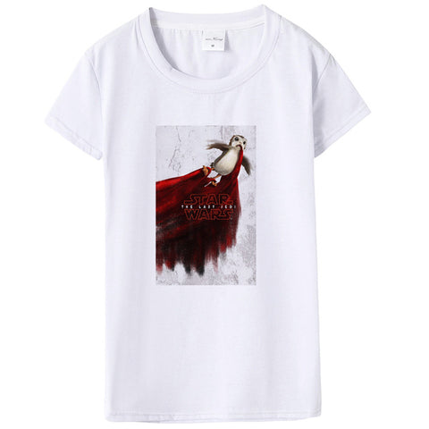 a735d319 New Arrival 2018 Porg Tshirt Summer Women Star Wars Porg T Shirt Causal  Short Sleeve Starwars